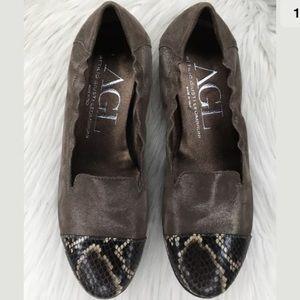 AGL cap toe loafers